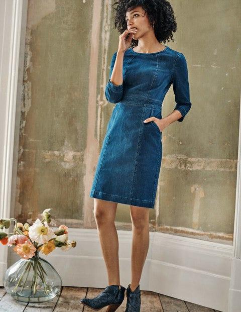 Coraline Dress - Mid Vintage Denim