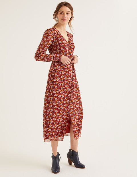 Hazel Midi Dress - Conker Romantic Bloom