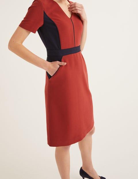 Vicky Colourblock Dress - Conker