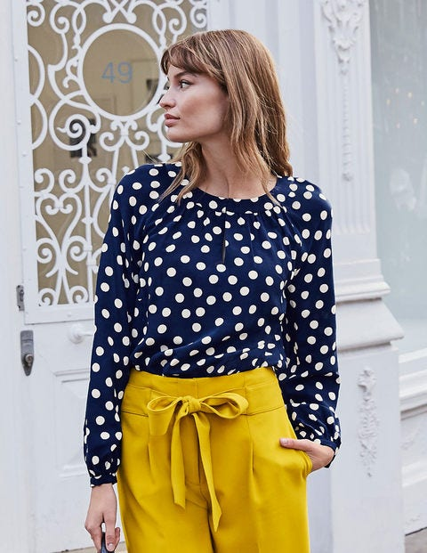 Eadie Top - French Navy, Brand Polka Dot