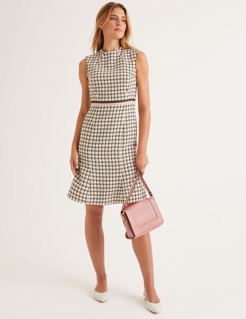 Ayla Tweed Dress - Green, Pink Windmill