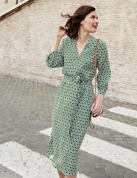 Florence Dress - Broad Bean, Ornamental Tile