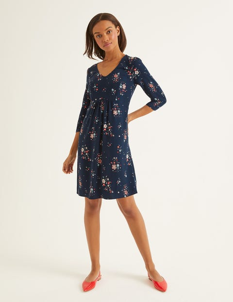 Eliza Dress - Navy and Ivory, Daydream
