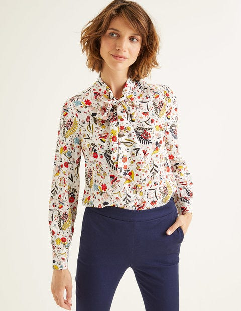 Thelma Blouse Ivory Women Boden, Ivory