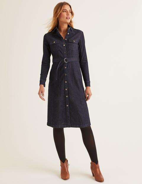 Lena Denim Shirt Dress - Rinse Indigo