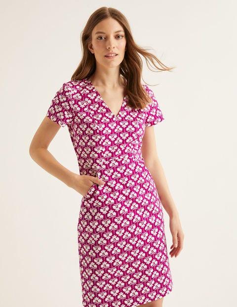 Dana Chino Dress - Vibrant Plum, Petal Sprig
