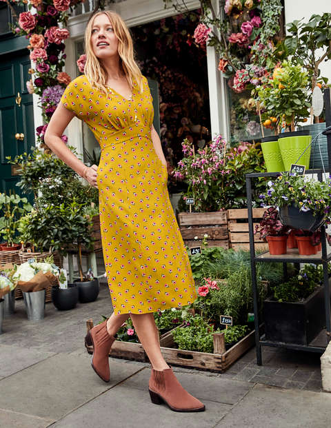Rosemary Dress - Saffron, Petal Head Scatter
