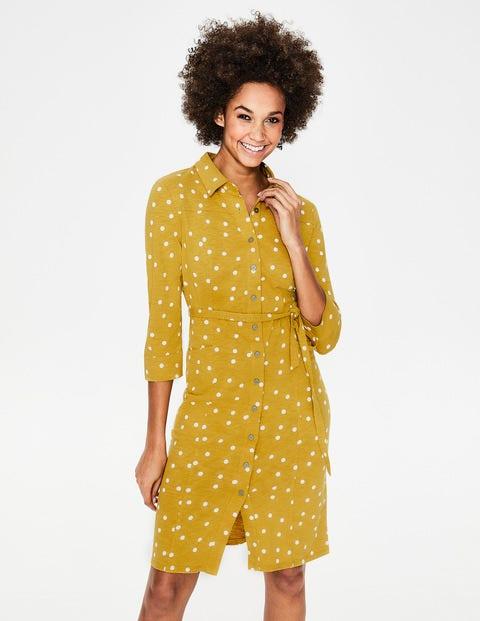 Tara Hemdblusenkleid aus Jersey Yellow Damen Boden, Yellow