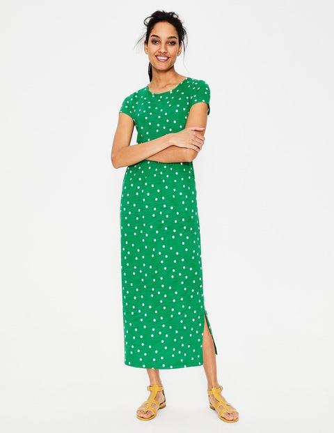 Nicola Jersey Midi Dress - Highland Green Brand Dot