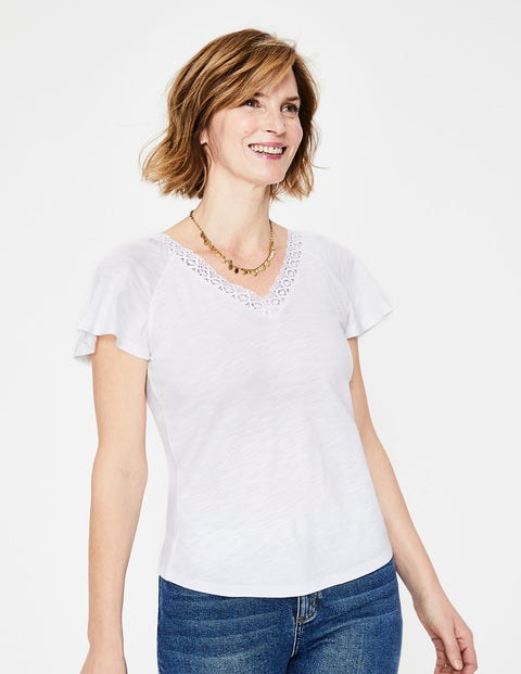 Margie Jersey Top - White