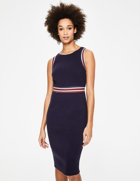 Zada Ottoman Dress - Navy