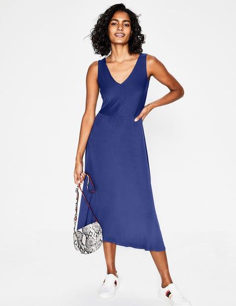 Octavia Jersey Midi Dress - Lapis