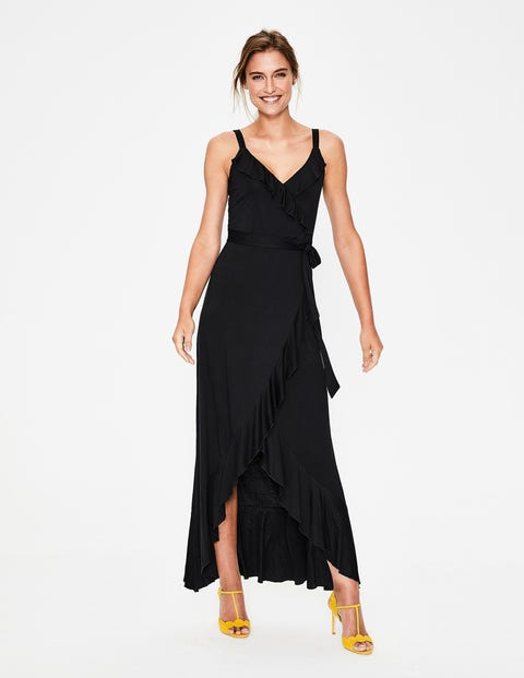 Nora Jersey Maxi Dress - Black