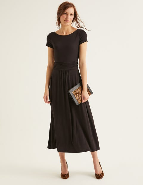 Alda Jersey Midi Dress - Black