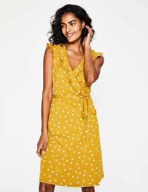 Jodie Jersey Wrap Dress - Dijon, Brand Dot
