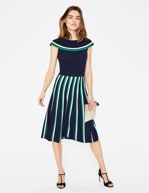 Sylvia Knitted Dress - Navy