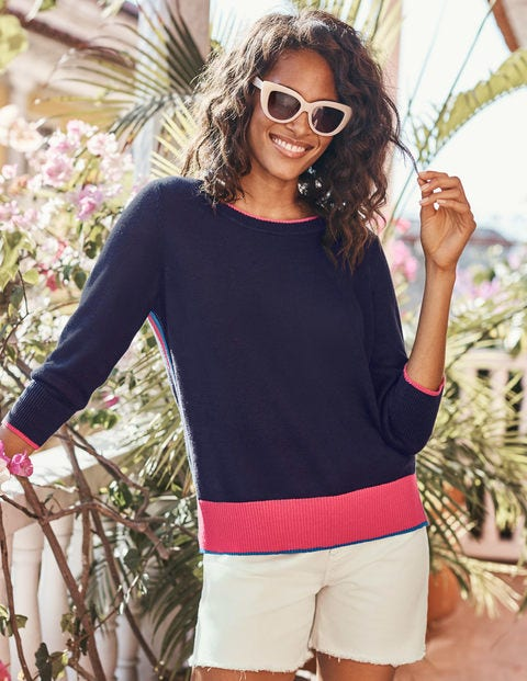 Armelle Relaxed Jumper - Navy