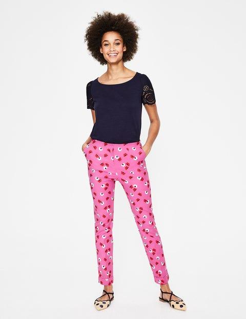 60s – 70s Pants, Jeans, Hippie, Bell Bottoms, Jumpsuits Kensington Turn-up Trousers Pink Women Boden Pink �65.00 AT vintagedancer.com