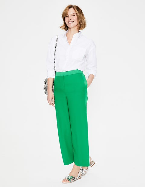Exeter Wide Leg Culottes - Highland Green