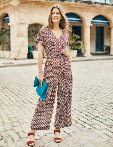 Romilly Jumpsuit - Navy, Daisy Geo