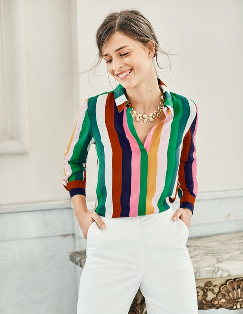 The Silk Shirt - Multi Stripe