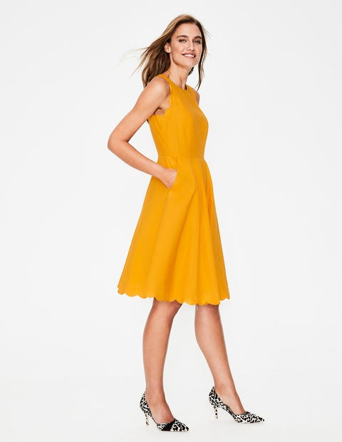 Judith Dress - Yellow Ochre