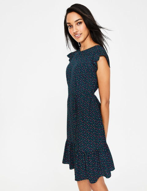 Cynthia Dress - Navy, Cherry Picking