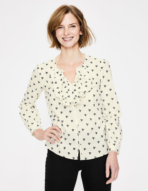 Leah Embroidered Blouse - Ivory