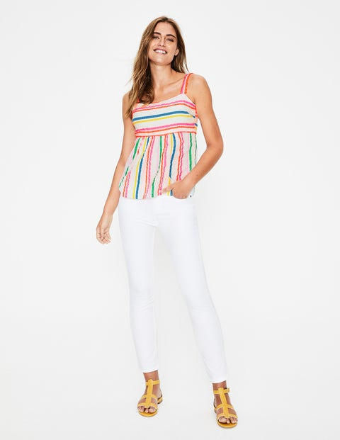 Agnes Top - Rainbow Fluro Stripe