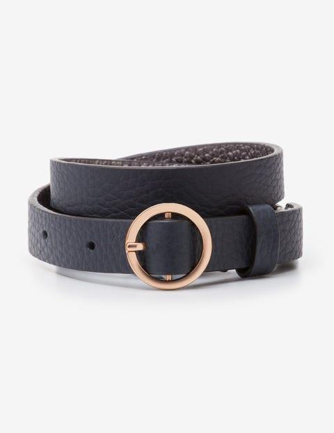 Skinny Waist Belt - Navy