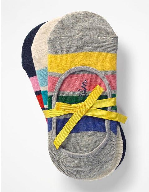 Three Pack Secret Socks - Rainbow Stripe