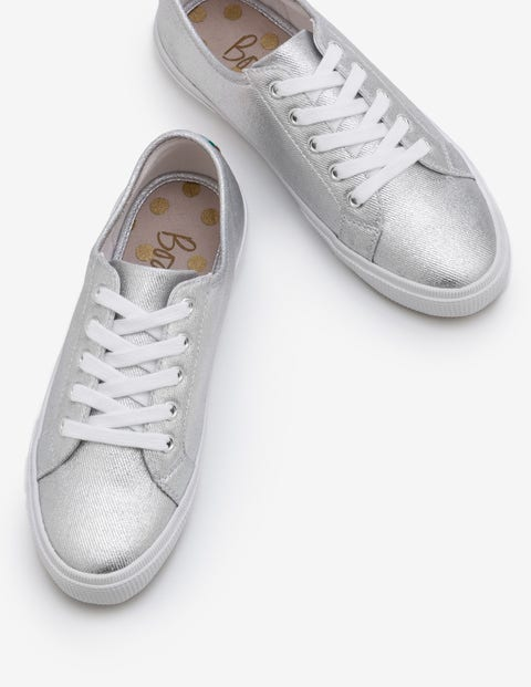 Canvas Sneakers - Silver Metallic
