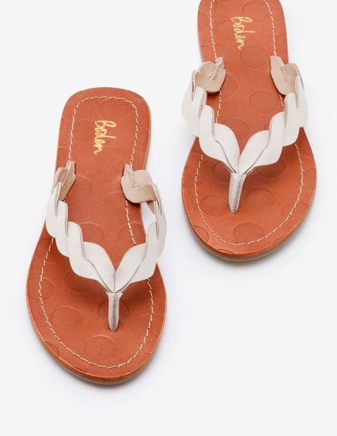 Clementine Flip Flops - Ivory