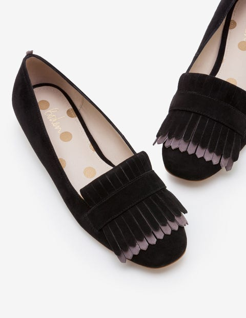 Melody Loafers - Black with Pewter