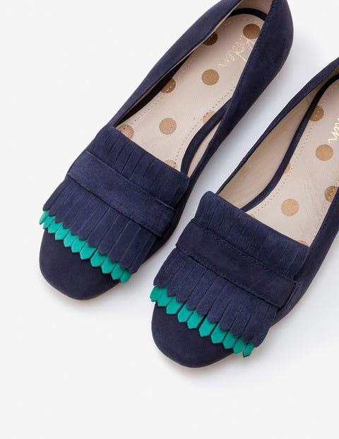 Melody Loafers - Navy with Forest