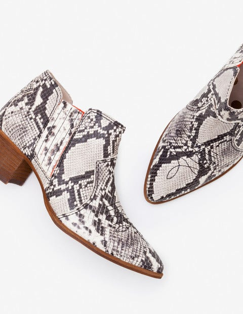 Clifton Ankle Boots - Snake