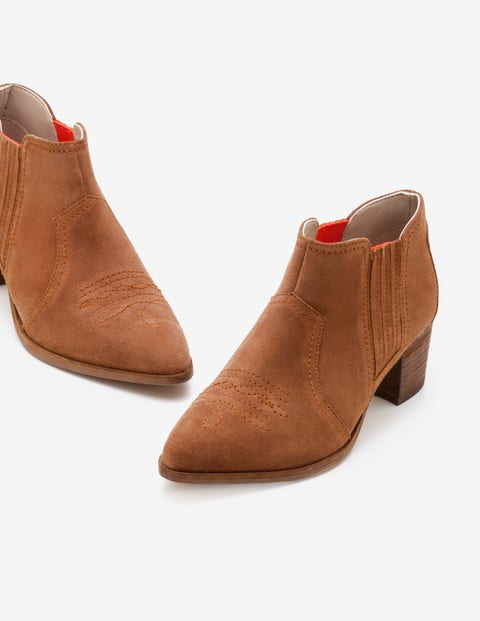 Clifton Ankle Boots - Tan