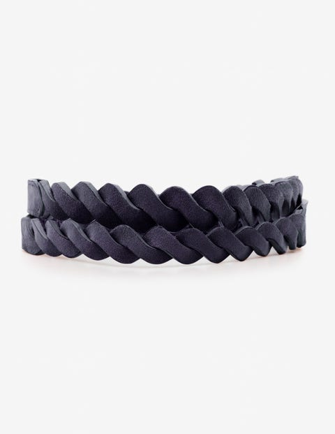 Woven Waist Belt - Navy