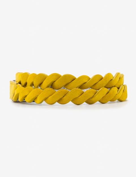 Gewebter Taillengürtel - Fröhliches Gelb