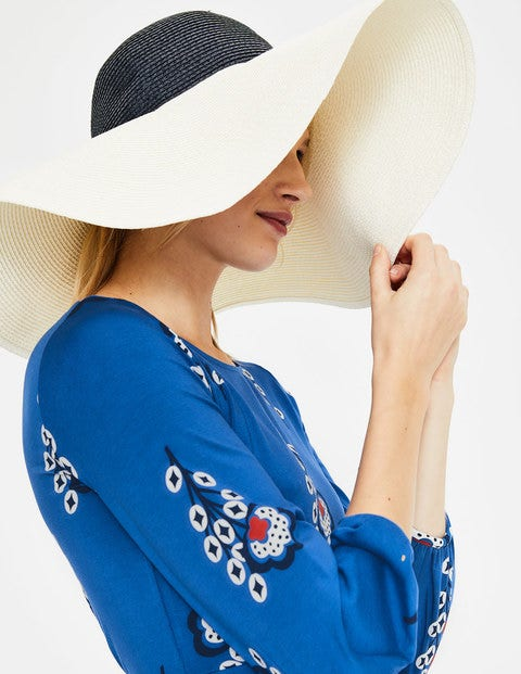 Sun Hat - Ivory and Navy