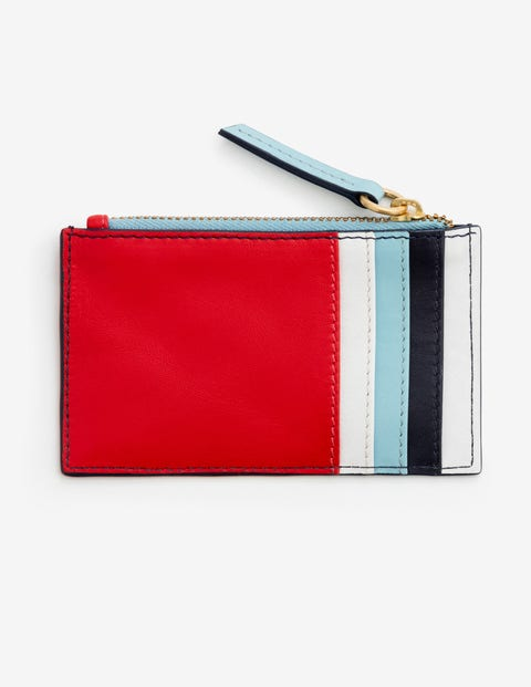 Coin & Card Holder - Red Pop Stripe