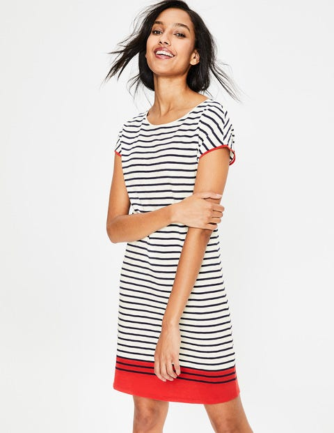 Paulina Jersey Dress - Red Pop Colourblock
