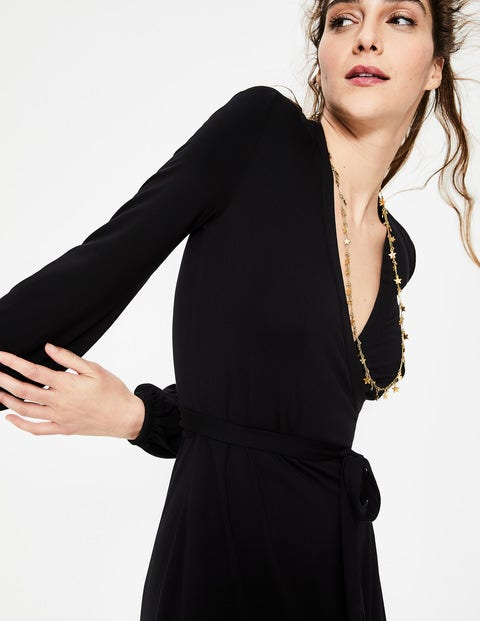d869b174fe0 Elodie Jersey Wrap Dress - Black