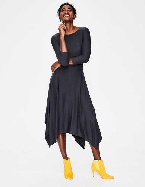 Maisie Jersey Midi Dress - Navy