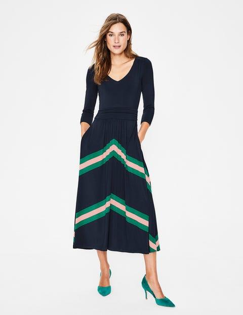 Juliet Jersey Midi Dress - Navy