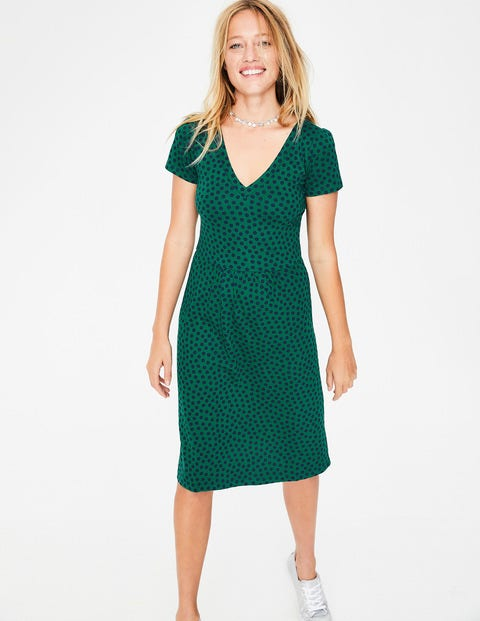 Penelope Jersey Dress - Forest Spot
