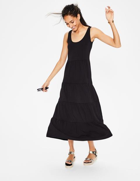Maya Jersey Maxi Dress - Black