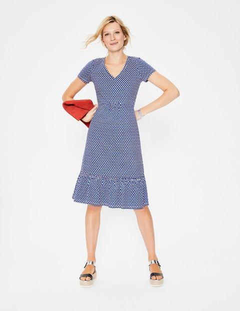 Melissa Jersey Dress - Candy Stick Diamond Lattice