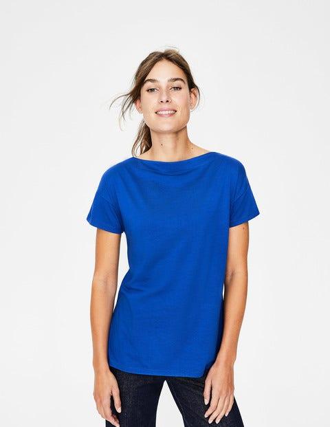 superweiches shirt mit u boot ausschnitt kobaltblau. Black Bedroom Furniture Sets. Home Design Ideas
