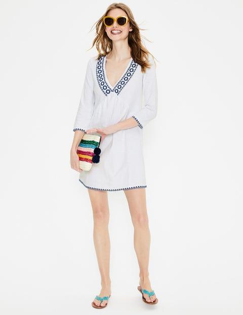 Rosanna Jersey Tunic - White/Cobalt